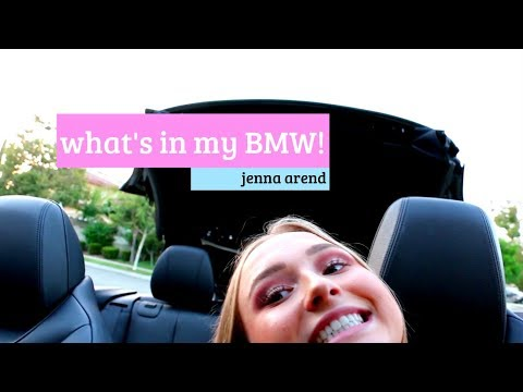 WHAT'S IN MY CAR!? | BMW 428i | JENNA AREND
