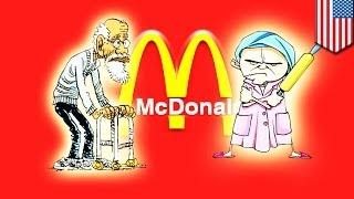 Old Korean people take over McDonald's in Flushing, New York