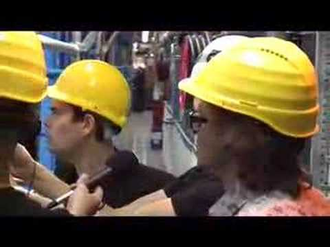 Kevin Eldon and Simon Munnery at CERN