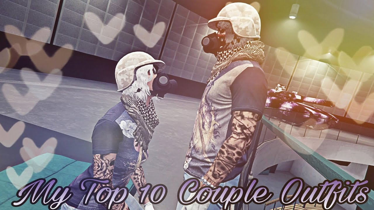 my top 10 couples outfits 💕💏  gta 5 online tryhard male