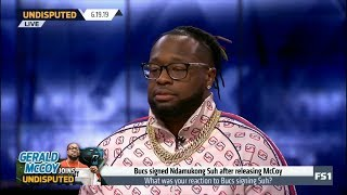 Gerald McCoy joins UNDISPUTED react to Bucs signed Ndamukong Suh after releasing McCoy