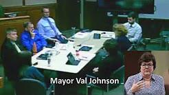 New Brighton, MN Mayor Val Johnson literally shaking because of white privileged denier