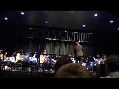 Hampton high school marching band performing A Yuletide Portrait