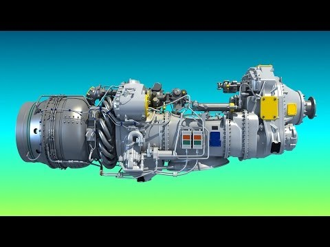 PW100 Turboprop 3D Engine Model