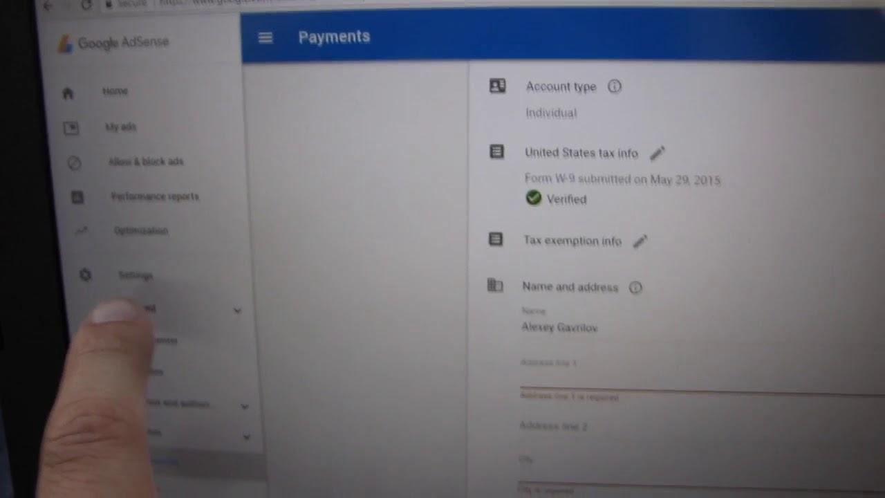 Google adsense address change to receive 1040 form youtube google adsense address change to receive 1040 form falaconquin
