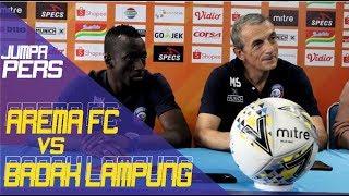 Download Video JUMPA PERS: AREMA FC Vs BADAK LAMPUNG: Tekad Jaga Tren Positif! MP3 3GP MP4