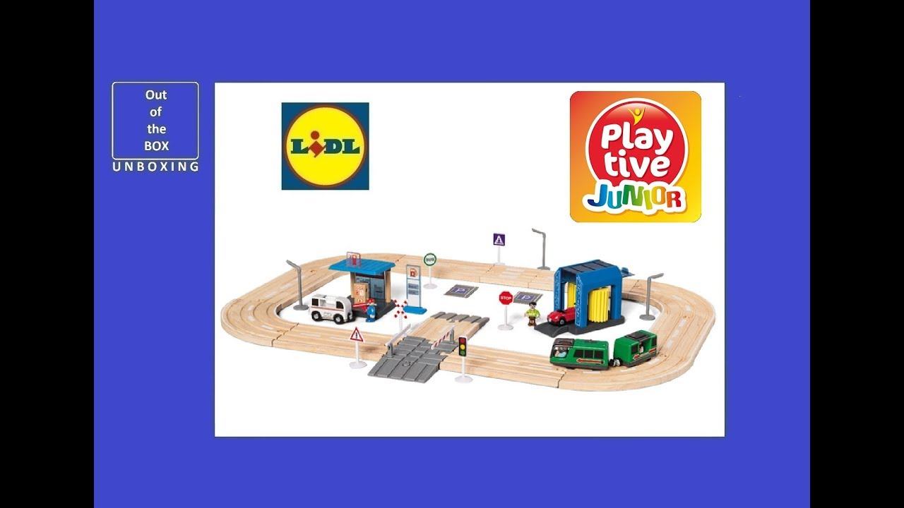 Playtive Küche Lidl Playtive Junior Motorway Unboxing Lidl Wooden Motorway Set 57 Pcs