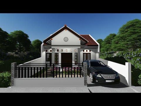 desain rumah minimalis - 8x8 meter di atas lahan 8x13