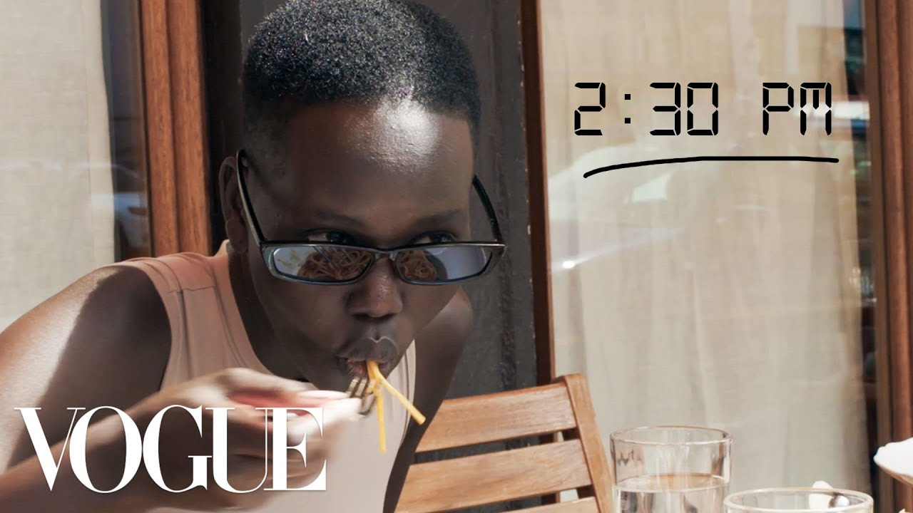 Adut Akech's Pre-Prada Show Getting Ready Routine | Vogue