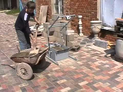 Concrete Blocks Machine BLOX-2 MINI - DIY (Do It Yourself) - Homemade from drawings. - YouTube