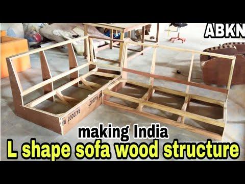 L shape sofa corner set making full tutorial sofa kese bana te hai