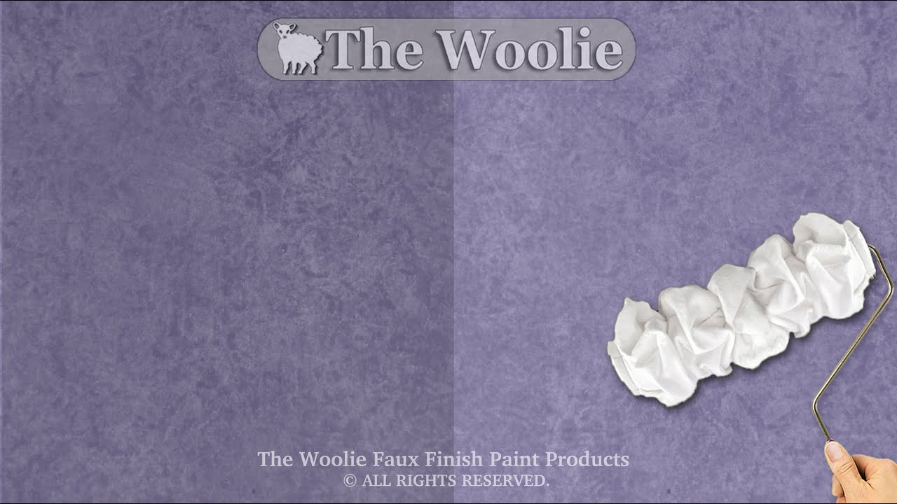 Rag Roller Faux Finish Painting By The Woolie (How To Paint Walls)  #FauxPainting   YouTube
