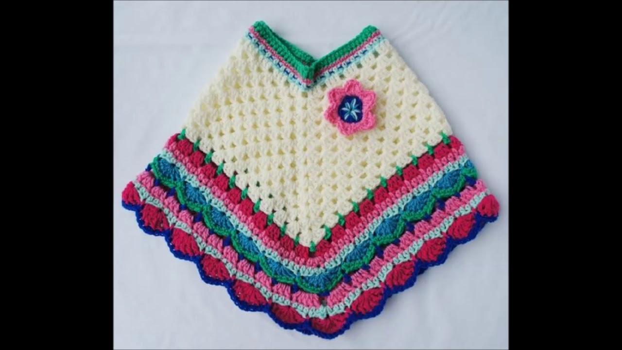 Crochet Kids Poncho Youtube