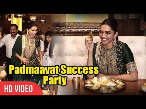 Padmaavat Success Party  Dinner Party With Deepika Padukone  Rajasthani Style Full Video