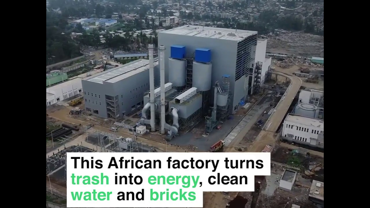 Ethiopia Turns trash into energy, clean water and bricks !
