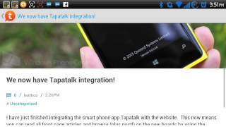 How to access the new site on Tapatalk