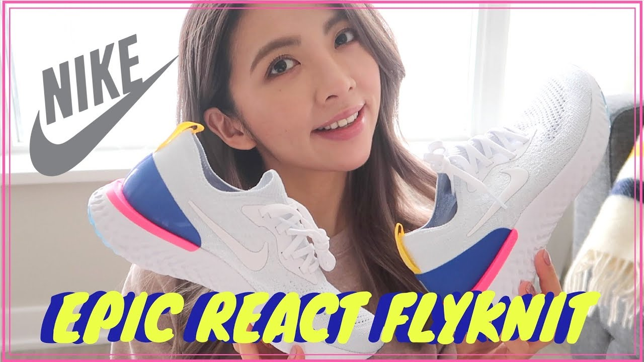 0eda63c8de83 UNBOXING + QUICK REVIEW  NIKE EPIC REACT FLYKNIT (WHITE) - YouTube