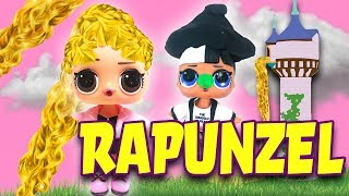 LOL Surprise Dolls Perform Rapunzel! Starring Curious QT, Snuggle Babe, Fancy, MC Swag, & Pink Baby!