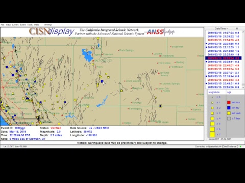 Real-Time Earthquakes Worldwide 24/7 LIVE - Live Stream