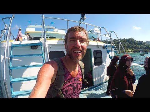 Arriving by boat on Ko Phi Phi island, Thailand