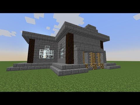 minecraft modernes haus bauen 3 deutsch german part 1. Black Bedroom Furniture Sets. Home Design Ideas