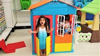 Pretend Play with Kids color Playhouse Toy !!