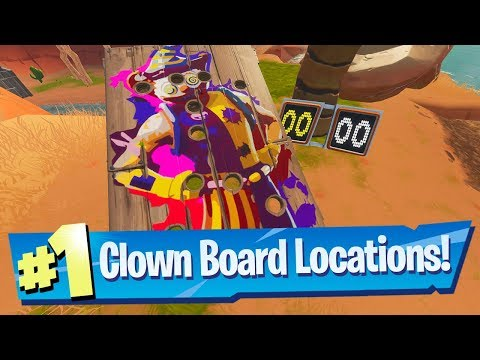 Get A Score Of 10 Or More On A Carnival Clown Board Locations - Fortnite 14 Days Of Summer Challenge
