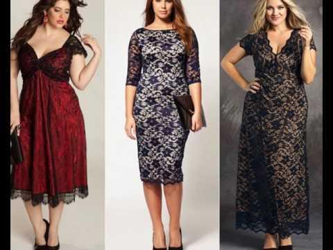 Мода для полных: кружевные платья
