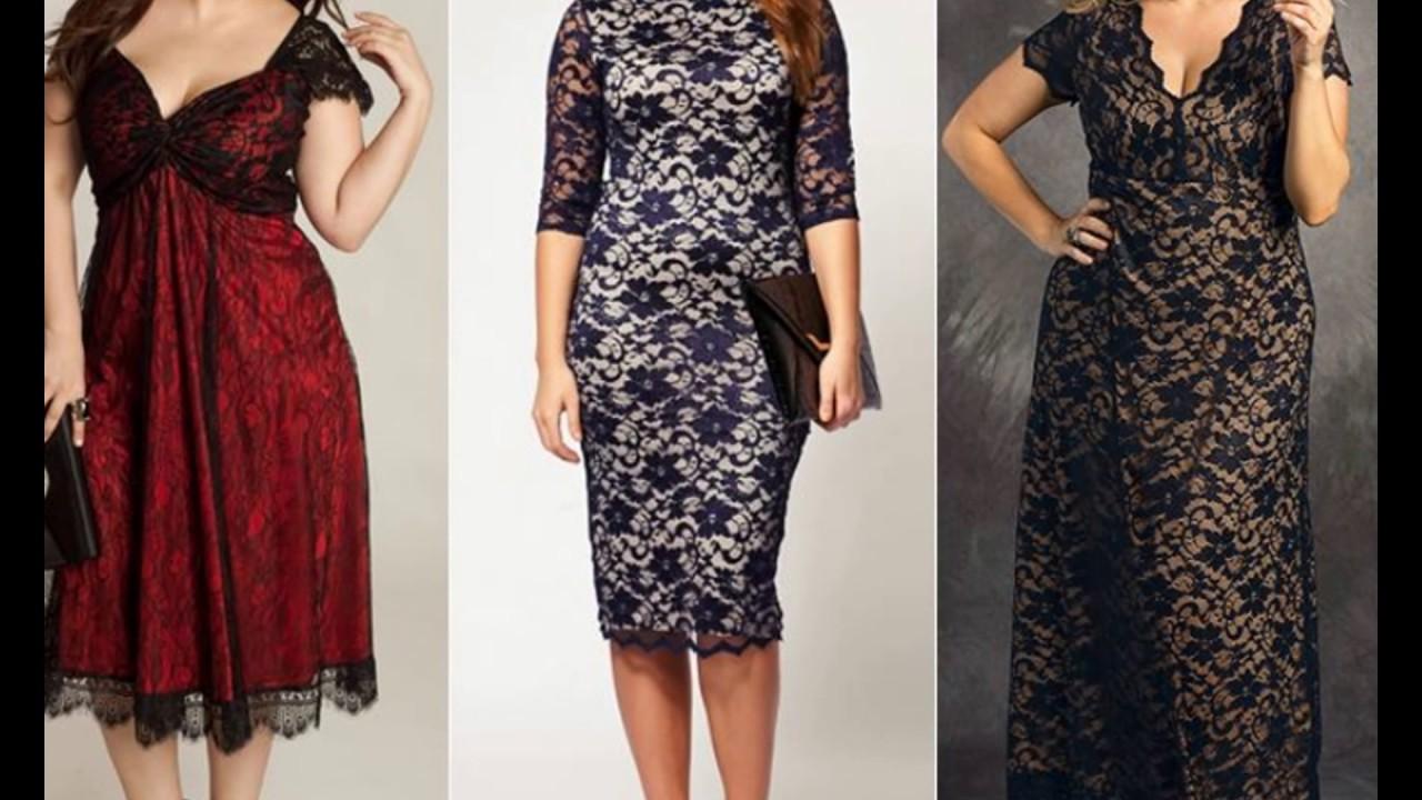 a1b817b44c2 Мода для полных  кружевные платья - YouTube