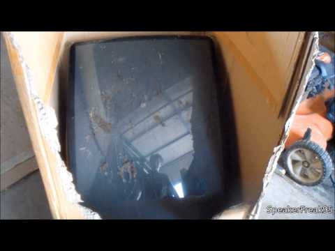TV Picture Tube Smash. (CRT Implosion)