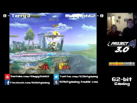 Terry J (Mewtwo) vs 62-bit | Gimpyfish62 (Kirby/Link) Project M 3.0