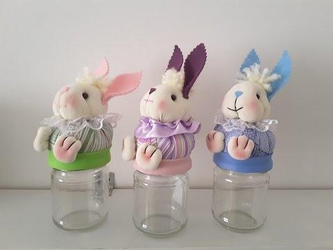 Tutorial 17 come decorare un barattolo con un coniglietto - Come decorare un barattolo ...