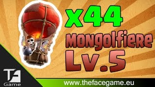 ATTACCO SOLO MONGOLFIERE LV.5 --Clash of Clans--