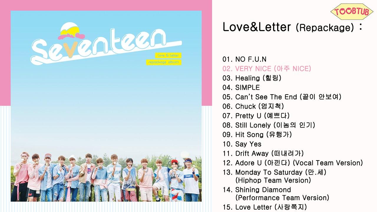 Full Album] SEVENTEEN (세븐틴)   Love&Letter [Repackage]   YouTube