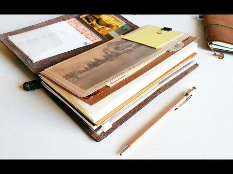 How I use my Midori Traveler's Notebook: Vacation Setup