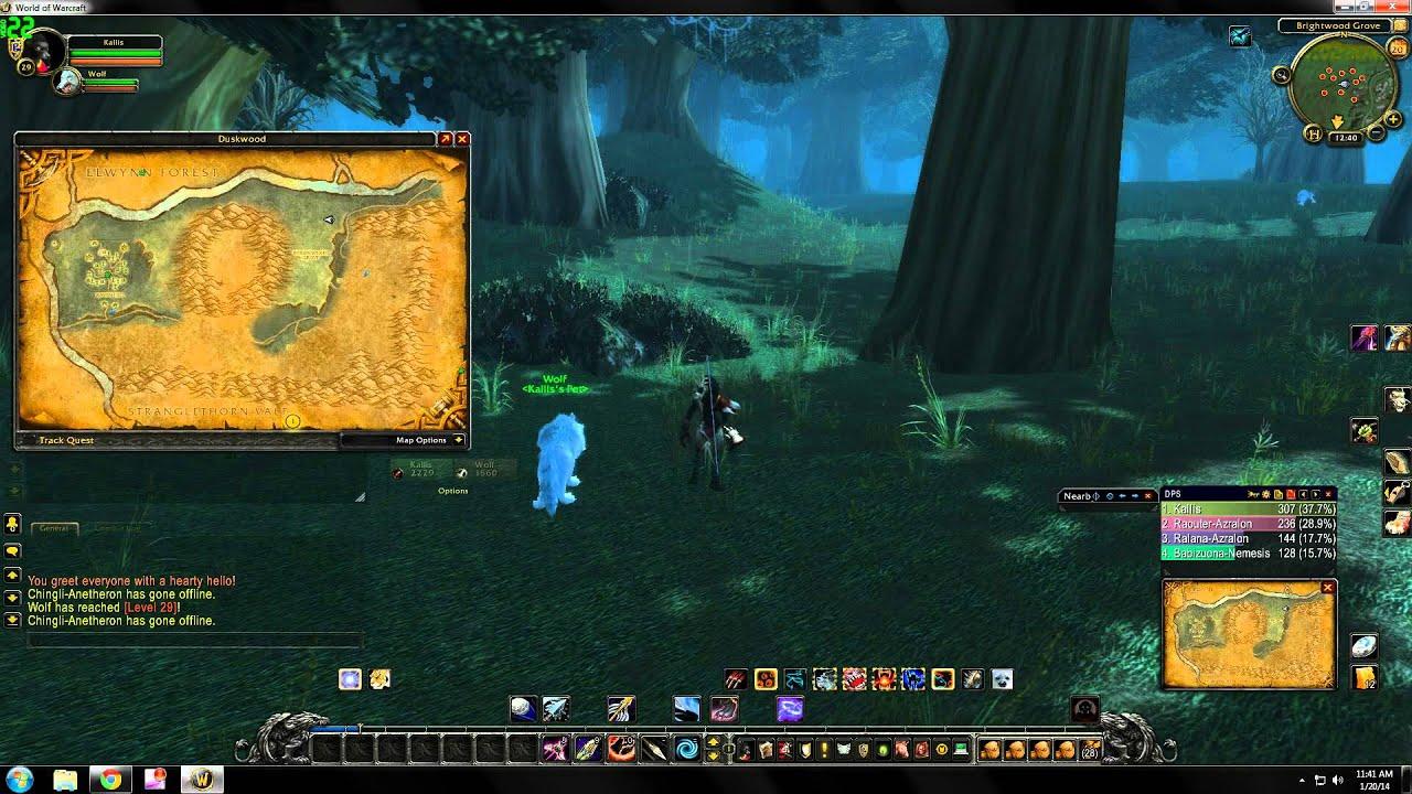 World Of Warcraft Rare Hunter Pet Locations Duskwood Youtube