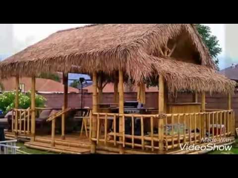 Casa de bambu youtube for Tejados de madera casas