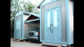 Built Insane Twin Sheds *retractable Roof Carport, Complete Build, Storage & Studio Space