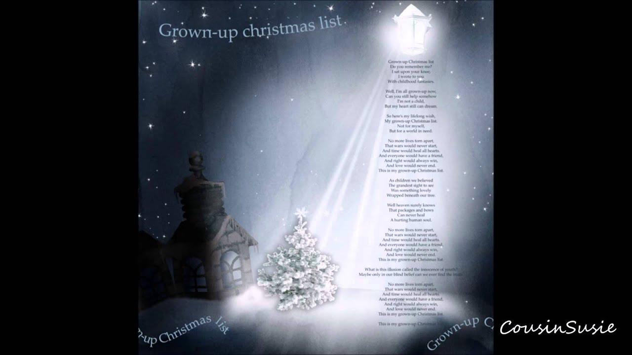 Barbra Streisand My Grown Up Christmas List - YouTube