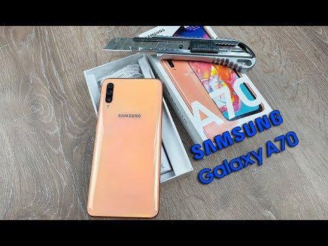 Samsung A70 sifir paket açılımı ve kurulumu Mercan renk