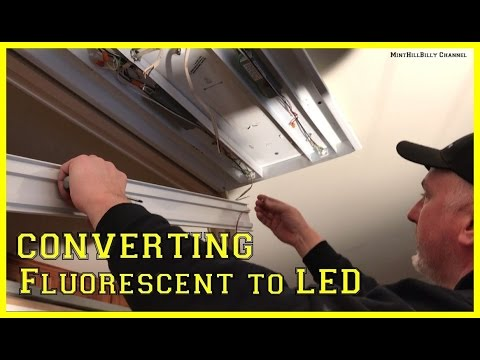 2 Fluorescent Light Wiring Diagram How To Convert A Fluorescent Light Fixture To Led Youtube