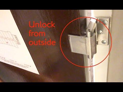 SPY HACK: Unlock Hotel Door Latch Lock (break in hotel room from outside)