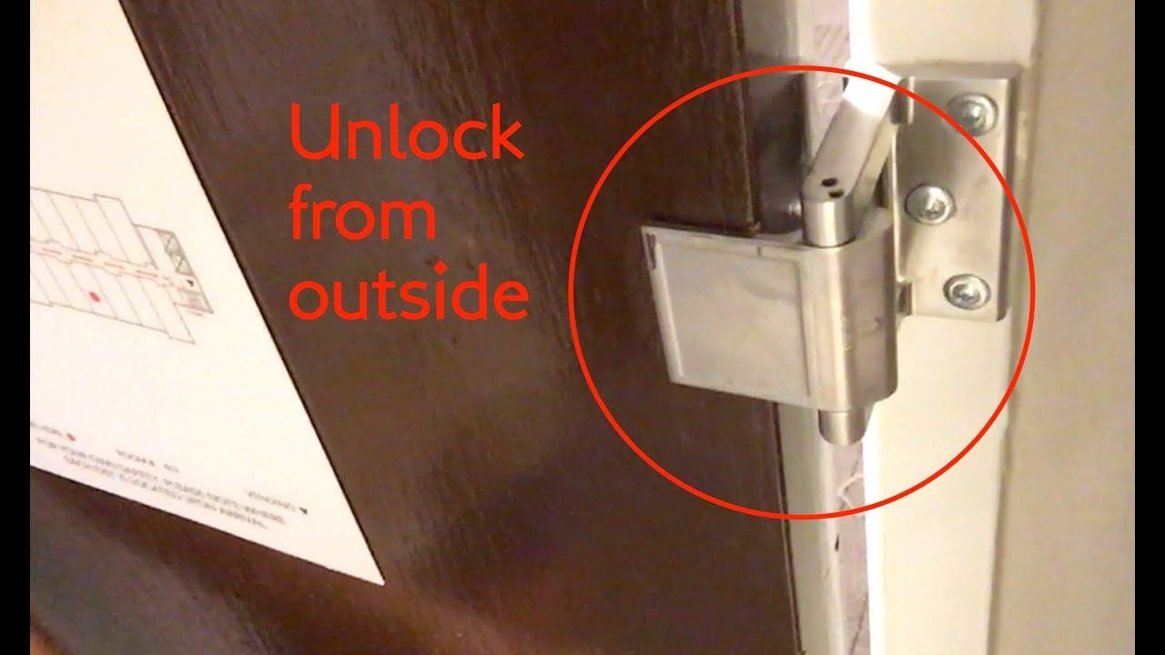 Spy Hack Unlock Hotel Door Latch Lock Break In Hotel Room From Outside Youtube