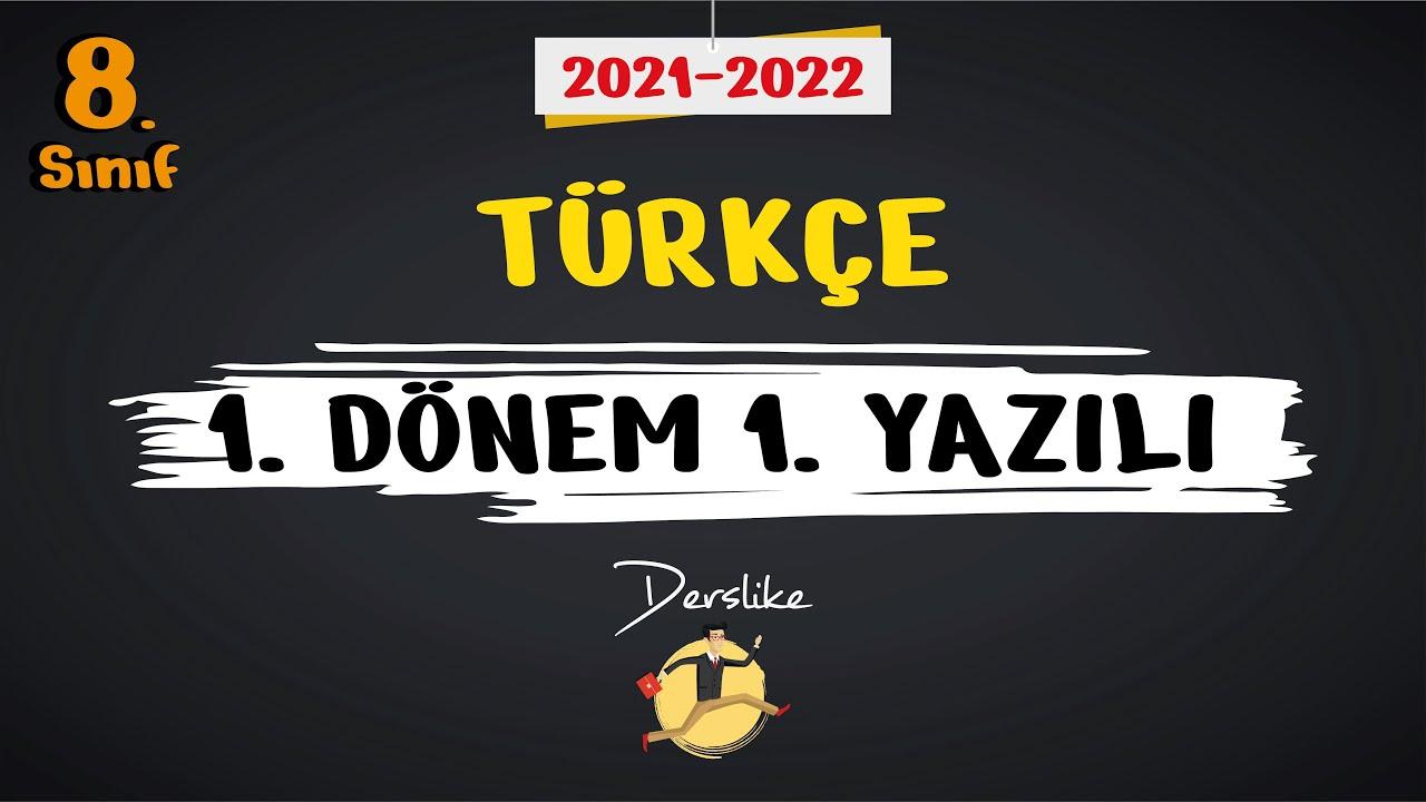 8. Sınıf Türkçe | 1.Dönem 1.Yazılı Soruları