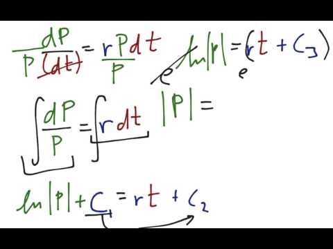 Exponential Growth with Differential Equations