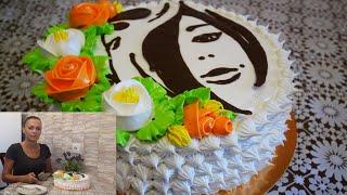 Торт для женщины на юбилей Торт ЖЕНСКИЙ ДЕВУШКА с ЦВЕТАМИ Украшение торта кремом