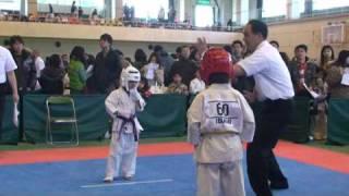 第7回 正道会館奈良県ジュニア空手道選手権大会 一回戦 勝利