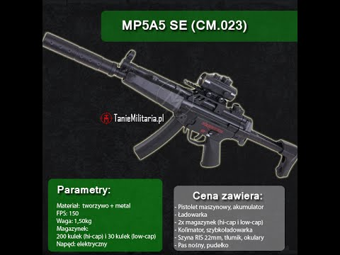 MP5A5 SE (CM.023) FIRMY CYMA  - TANIEMILITARIA.PL