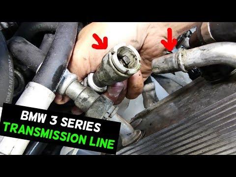 How To Disconnect Transmission Line On Bmw E90 E91 E92 E93 Youtube