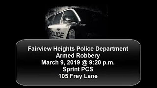 Surveillance video shows armed robbery of Sprint store in Fairview Heights